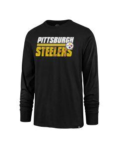 Pittsburgh Steelers Men's '47 Shadow Stripe Super Rival Long Sleeve T-Shirt