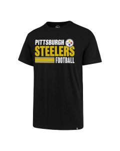 Pittsburgh Steelers Men's '47 Stacked Stripe Super Rival Short Sleeve T-Shirt