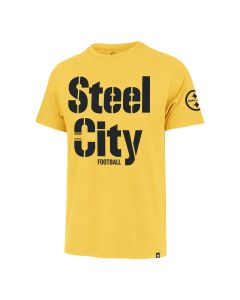 Pittsburgh Steelers Men's '47 Franklin Color Rush Steel City Football Short Sleeve Gold T-Shirt