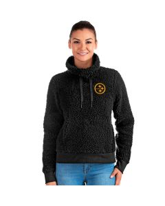 Pittsburgh Steelers Women's Guardian Color Rush Cowl Neck Pullover Sherpa