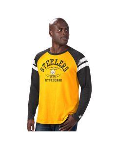 Pittsburgh Steelers Men's League Raglan Long Sleeve T-Shirt