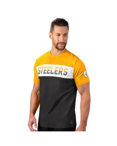 Pittsburgh Steelers Men's MSX by Michael Strahan Advance Colorblock Short Sleeve T-Shirt