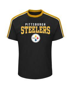 Pittsburgh Steelers Men's Big & Tall Colorblock Ringer Short Sleeve T-Shirt