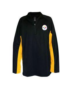 Pittsburgh Steelers Men's Big & Tall Inset 1/2 Zip