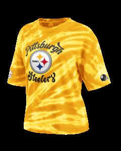 Pittsburgh Steelers Women's Tie Dye Skimmer Short Sleeve T-Shirt