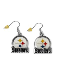 Pittsburgh Steelers Circle Bar Earrings
