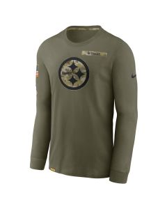 Pittsburgh Steelers Men's Nike 2021 Salute to Service (STS) Long Sleeve T-Shirt