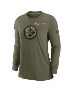 Pittsburgh Steelers Women's Nike 2021 Salute to Service (STS) Long Sleeve T-Shirt
