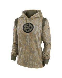 Pittsburgh Steelers Women's Nike 2021 Salute to Service (STS) Therma Hoodie