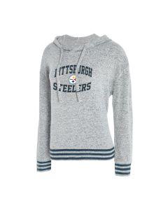 Pittsburgh Steelers Women's Siesta Sweater Knit Hooded Long Sleeve Shirt
