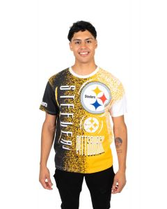 Pittsburgh Steelers Men's Stacked Short Sleeve T-Shirt