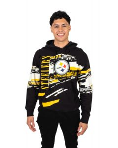 Pittsburgh Steelers Men's Heights Pullover Fleece Hoodie