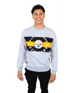 Pittsburgh Steelers Men's Striped Fleece Crew
