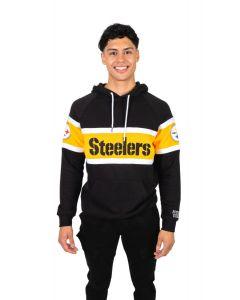 Pittsburgh Steelers Men's Tract Pullover Fleece Hoodie