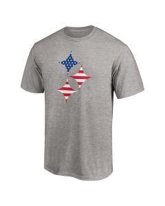 Pittsburgh Steelers Men's Patriotic Hypocycloid Short Sleeve T-Shirt