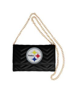 Pittsburgh Steelers Cuce Quilted Purse/Clutch Combo