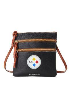 Pittsburgh Steelers Dooney & Bourke Leather Triple Zip Crossbody