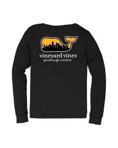 Pittsburgh Steelers Men's Vineyard Vines Skyline Jersey Stripe Long Sleeve T-Shirt