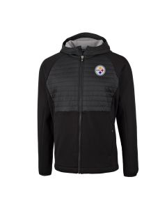 Pittsburgh Steelers Men's Cutter & Buck Discovery Hybrid Hooded Jacket