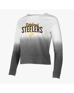 Pittsburgh Steelers Women's Dip Dye French Terry Crew