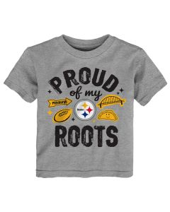 Pittsburgh Steelers Toddler Proud of My Roots Short Sleeve T-Shirt