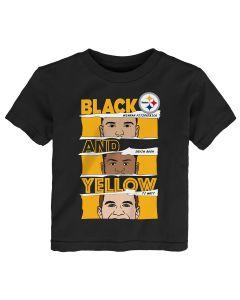 Pittsburgh Steelers Toddler Black & Gold Defense Short Sleeve T-Shirt