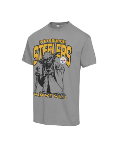 Pittsburgh Steelers Unisex Disney Star Wars Yoda Win We Will Short Sleeve T-Shirt