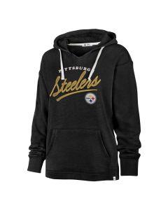 Pittsburgh Steelers Women's '47 Cross Script Kennedy Fleece Hoodie