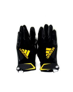 Pittsburgh Steelers 10.3.2021 Game Used #29 Kalen Ballage Gloves vs. Packers