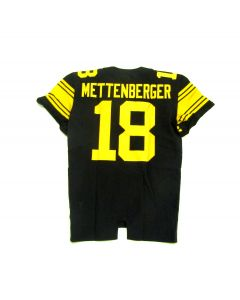 Pittsburgh Steelers Team Issued #18 Zach Mettenberger Color Rush Jersey