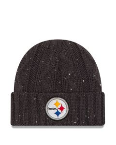 Pittsburgh Steelers New Era Women's Cable Frosted Cuff Knit Cap