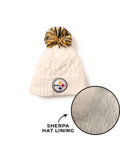 Pittsburgh Steelers New Era Girls' Cozy Cable Knit Hat