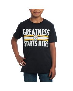 Pittsburgh Steelers Boys Greatness Starts Here T-Shirt
