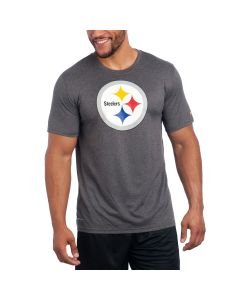 Pittsburgh Steelers Nike Short Sleeve Essential 3 Logo Charcoal T-Shirt