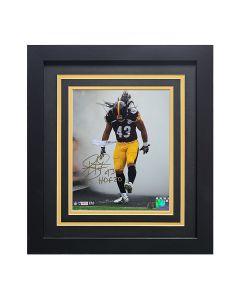 Pittsburgh Steelers #43 Troy Polamalu Smoke Signed Framed 8x10 Photo