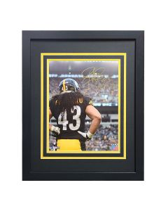 Pittsburgh Steelers #43 Troy Polamalu Back Signed Framed 11x14 Photo