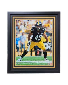 Pittsburgh Steelers #43 Troy Polamalu Stance Signed Framed 16x20 Photo
