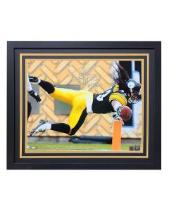 Pittsburgh Steelers #43 Troy Polamalu Dive Signed Framed 16x20 Photo