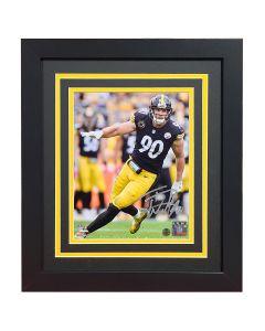 Pittsburgh Steelers #90 T.J. Watt Edge Signed Framed 8x10 Photo