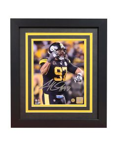 Pittsburgh Steelers #97 Cam Heyward Color Rush Signed Framed 8x10 Photo