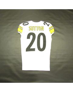 Pittsburgh Steelers #20 Cam Sutton Game Used Away Uniform Set