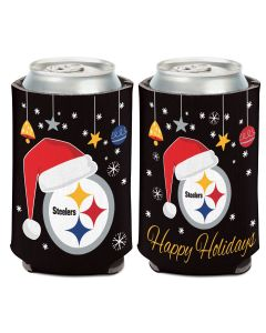 Pittsburgh Steelers Santa Hat Christmas Can Coolie