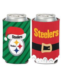 Pittsburgh Steelers Two-Sided Christmas Can Coolie