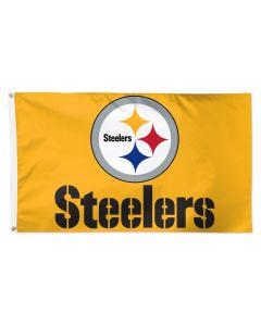 Pittsburgh Steelers Gold Logo and Wordmark 3'x5' Flag