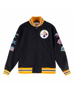 Pittsburgh Steelers Mitchell & Ness Team History Warm Up Jacket