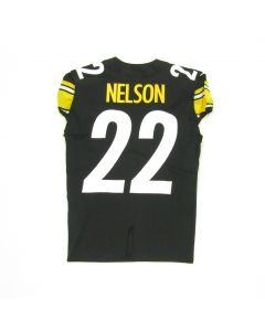 Pittsburgh Steelers #22 Steven Nelson Game Used Home Jersey