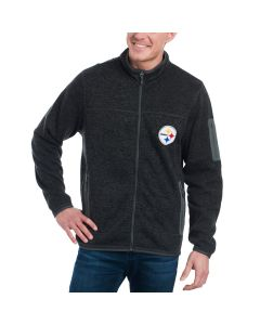 Pittsburgh Steelers GIII Campfire Grey Zip Jacket