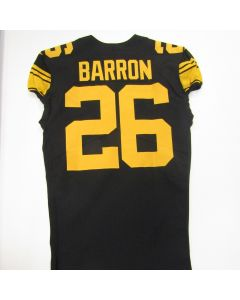 Pittsburgh Steelers #26 Mark Barron Game Used Color Rush Jersey
