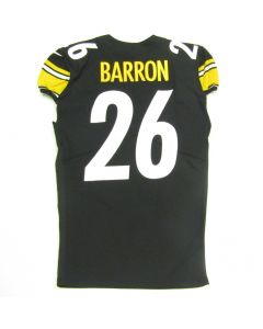 Pittsburgh Steelers #26 Mark Barron Game Used Home Jersey