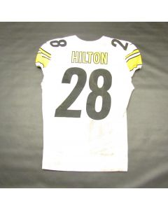 Pittsburgh Steelers #28 Mike Hilton Game Used Away Uniform Set